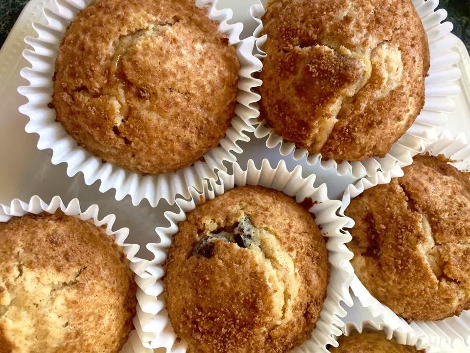 Homemade Cinnamon Raisin Muffins