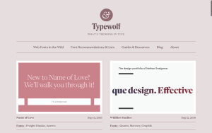Typewolf.com Screenshot