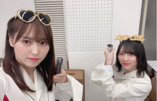 菅井友香(左)と森田ひかる