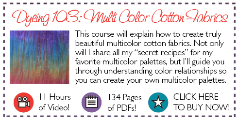 Dyeing 103 Multi Color Cotton Fabrics