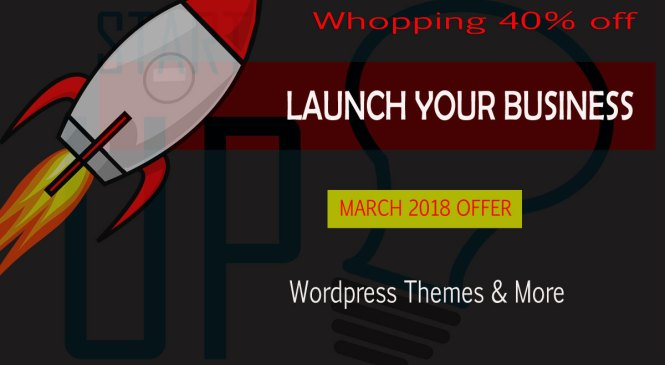 Big 40% off–Handpicked WordPress Themes-March 2018 Offer