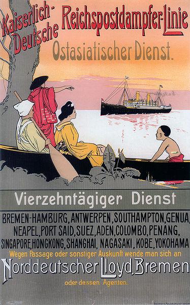 Werbeplakat der Dampferlinie (1898)
