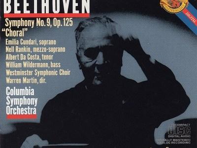 ワルター指揮コロンビア響 ベートーヴェン交響曲第9番(1959.1&4録音)を聴いて思ふ