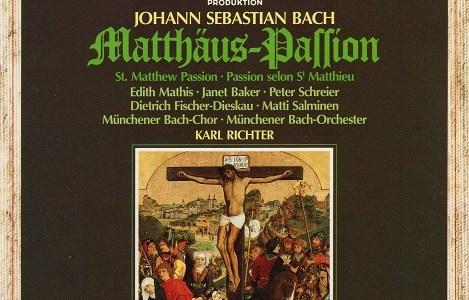 マティス ベイカー シュライアー フィッシャー=ディースカウ サルミネン リヒター指揮ミュンヘン・バッハ管 J.S.バッハ マタイ受難曲BWV244(1979録音)