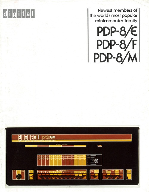 Front cover of Newest members of the world's most popular minicomputer family PDP-8/E PDP-8/F PDP-8M