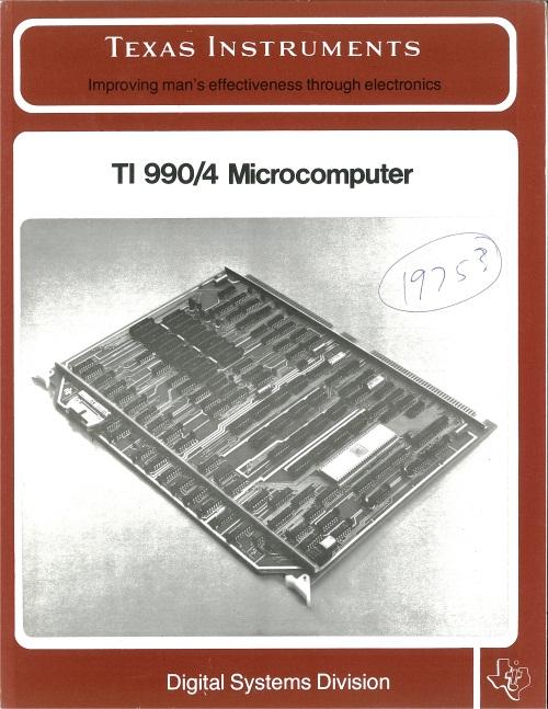 Texas Instruments TI 990/4 Microcomputer