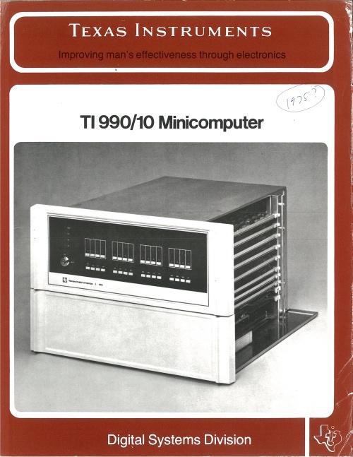 Texas Instruments TI 990/10 Minicomputer