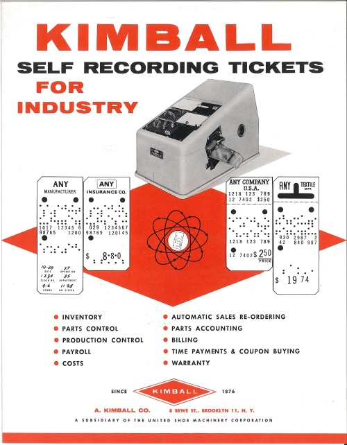 Kimball Self Recording Tickets