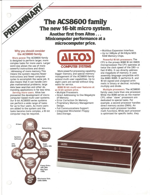 Altos ACS8600 Family
