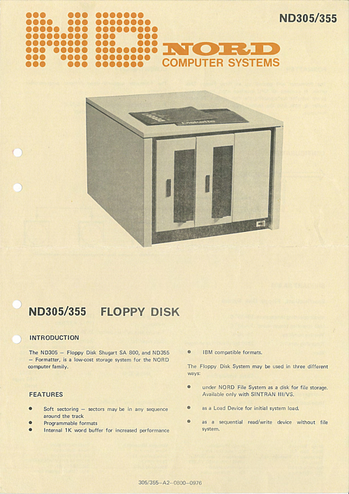 ND Nord 305/355 Floppy Disk