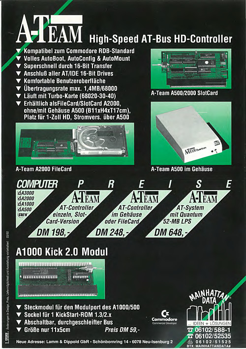 A-Team High Speed AT-Bus HD-Controller - Classic Computer Brochures