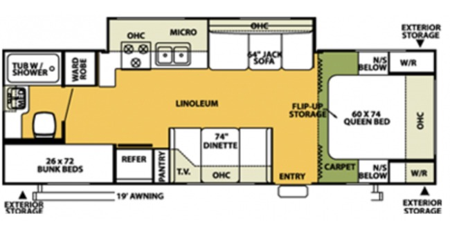 #9 Bunkhouse Trailer Floorplan