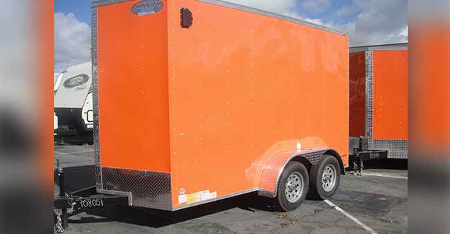12x6 Foot Utility Trailer w/ Rear Ramp