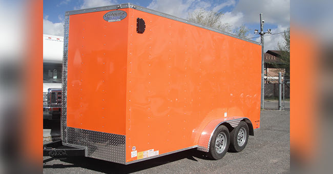 14x7 Foot Utility trailer w/ Rear Ramp