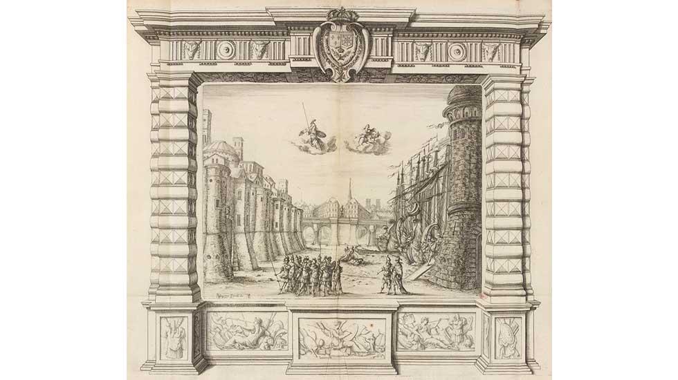 Décor du prologue de La Finta Pazza de Sacrati
