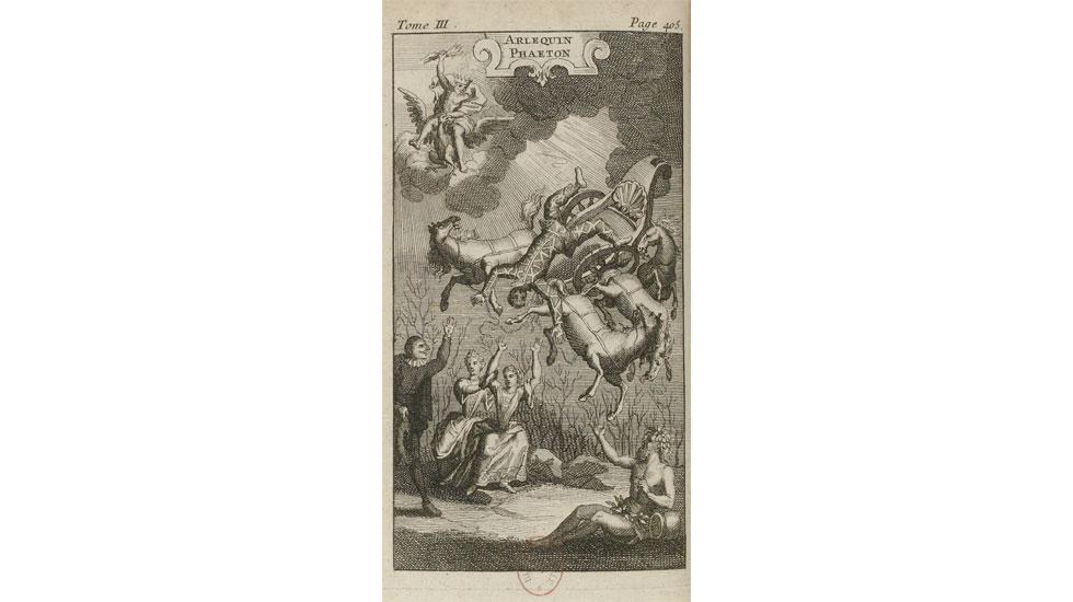 Jean de Palaprat, Arlequin Phatéon (1692), dans Le Théâtre italien de Gherardi, frontispice gravéJean de Palaprat, Arlequin Phatéon (1692), dans Le Théâtre italien de Gherardi, frontispice gravé