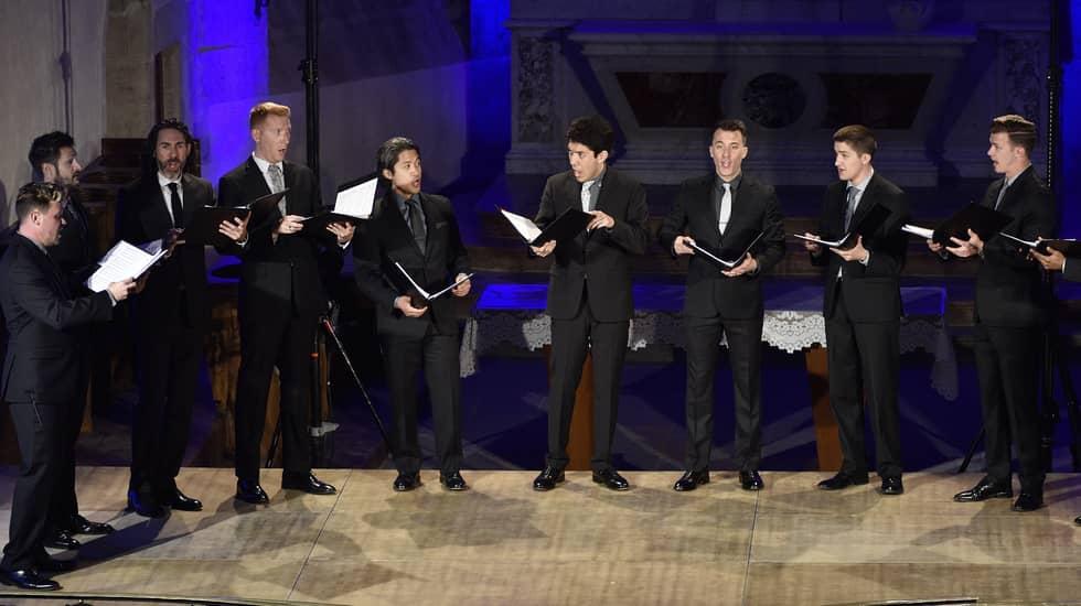 Douze voix d'hommes du prestigieux choeur américain Chanticleer © Bertrand PICHENE