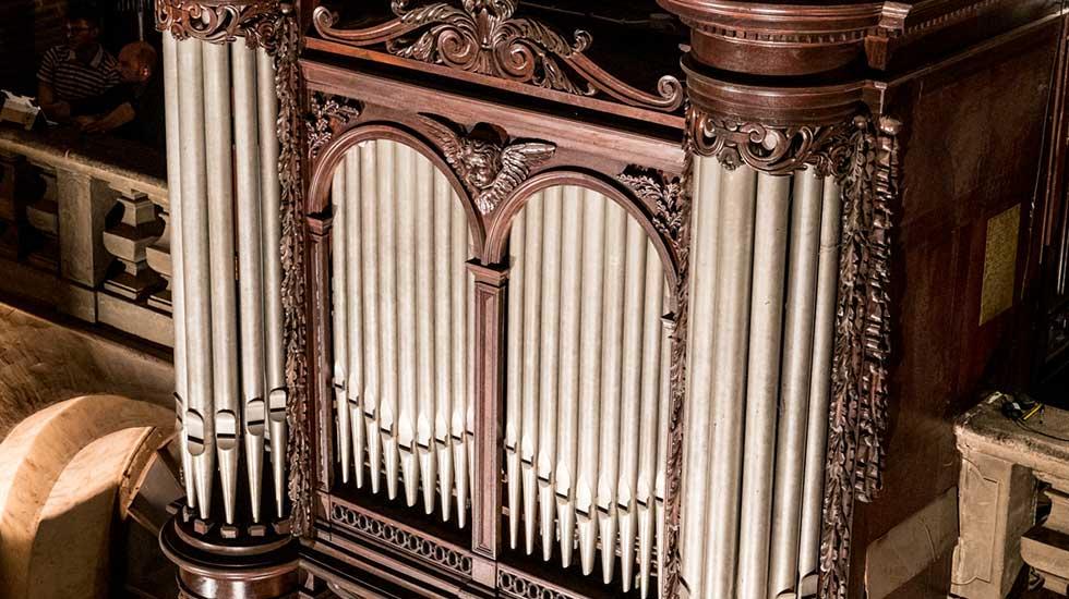 Le positif de dos de l'orgue de la Basilique Saint-Sernin à Toulouse