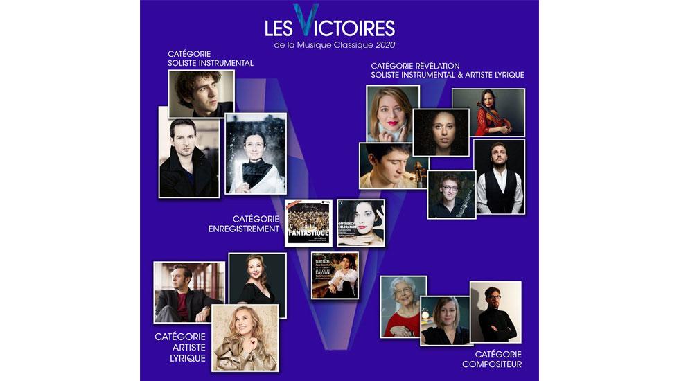 Les nommés des Victoires de la musique classique 2020