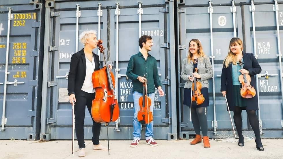 Le quatuor Métamorphoses, Mathilde Potier, à droite sur la photo