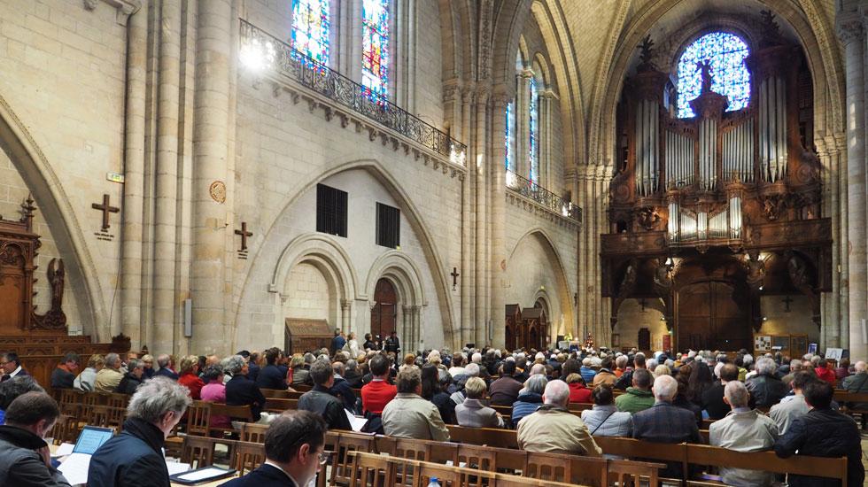 La finale du Grand Prix d'orgue Jean-Louis Florentz - Académie des Beaux-Arts s'est déroulée à la cathédrale d'Angers © DR