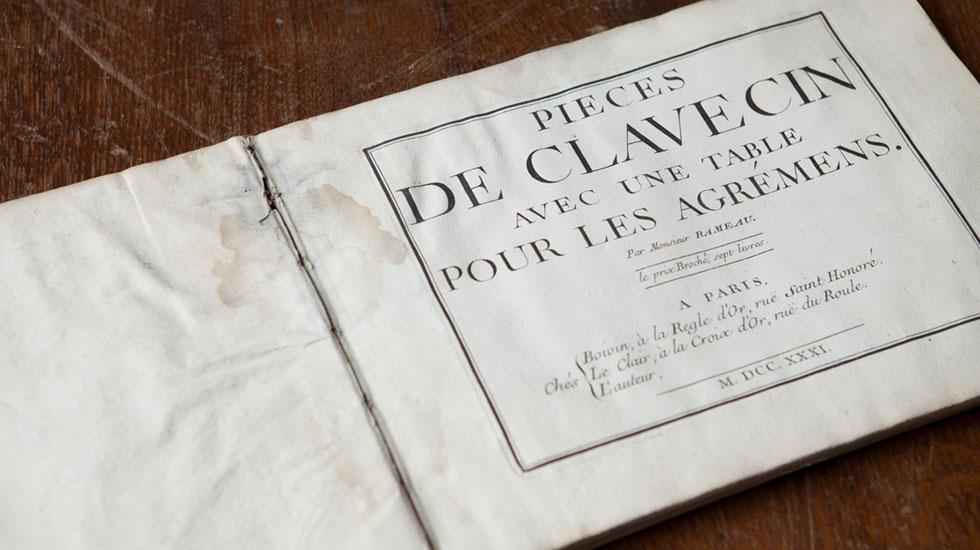 Pièces de Clavecin de Rameau - Bibliotheque Musicale François Lang / Royaumont