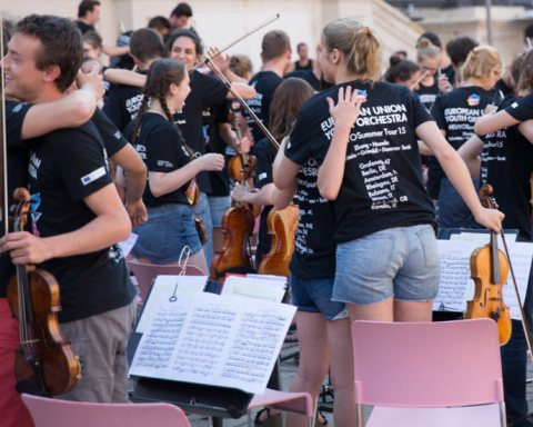 Le jeunes du European Union Youth Orchestra