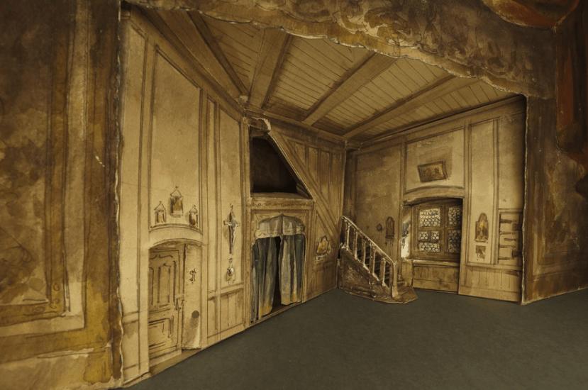 Faust : maquette construite de l'acte III, tableau 1 / par Charles Cambon et Emile Daran - Mise en scène Léon Carvalho