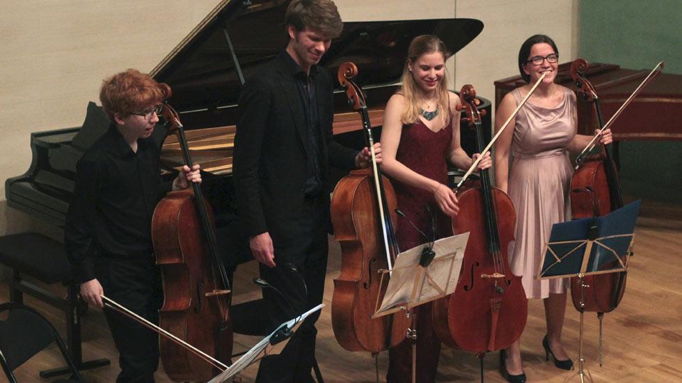 Cameron Crozman, Joris Van den Berg, Lisa Strauss, Anastasia Feruleva. Musée des impressionnismes de Giverny, 21 août 2016