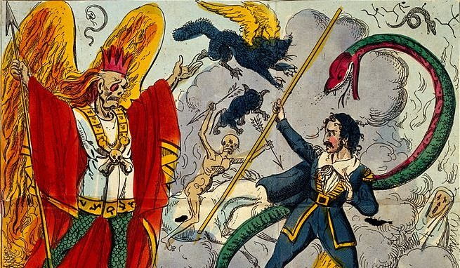 The Devil and Dr. Faustus meet