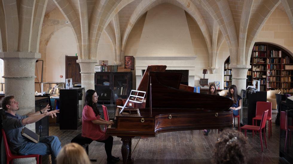 Atelier d'interprétation Chopin © Benjamin Travade / Royaumont