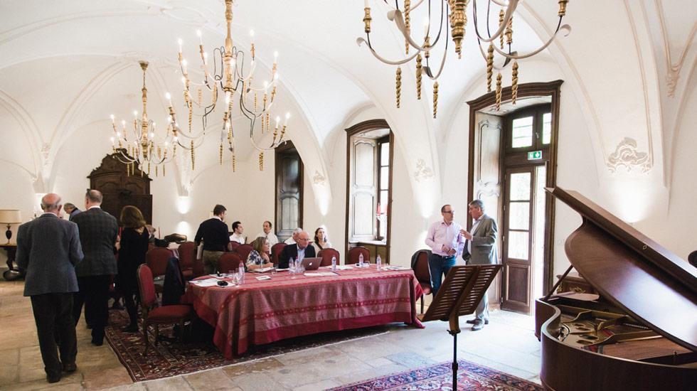 Le jury au concours du fonds instrumental du festival Musique et Vin au Clos Vougeot © Christophe Fouquin