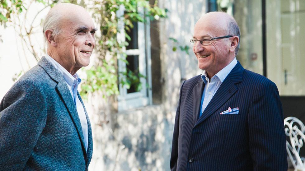 Aubert de Villaine et Bernard Hervet, fondateurs du fonds instrumental du festival Musique et Vin au Clos Vougeot © Christophe Fouquin