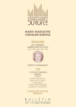 Bulletin n°17 Association Maurice et Marie-Madeleine Duruflé