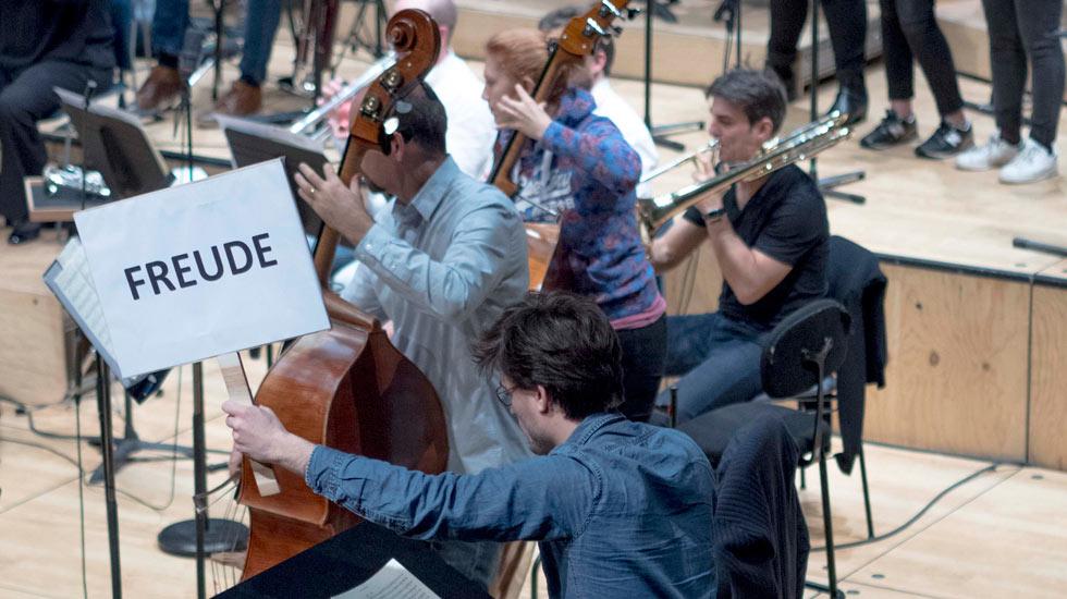 L'orchestre de Picardie et les lycéens d'Abbeville © Ella Bats