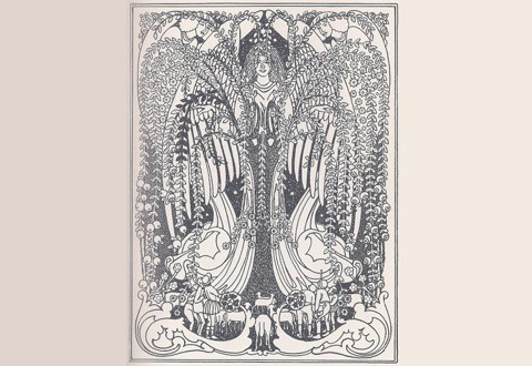 """H. Vogeler : illustration pour """"La Vie de Marie"""" de R. M. Rilke"""