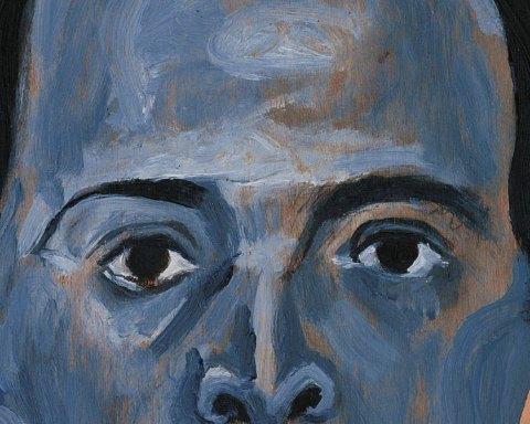 Arnold Schönberg, Autoportrait en bleu (1910), Huile sur contre-plaqué