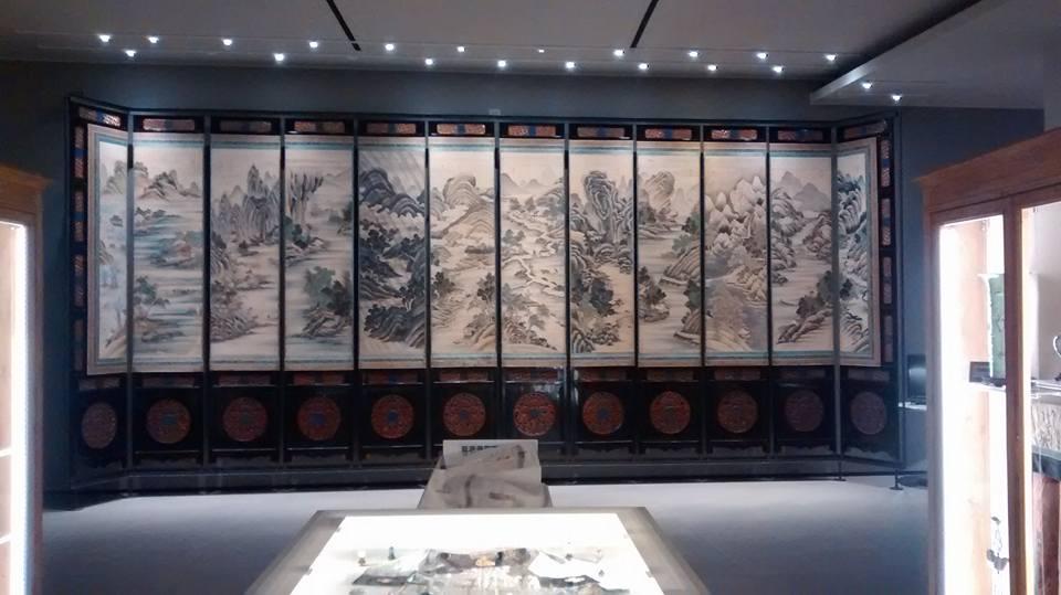 Paravent à 12 panneaux peint par Ma Yaozi en 1844 © Musée d'art chinois et ethnographique de Parme