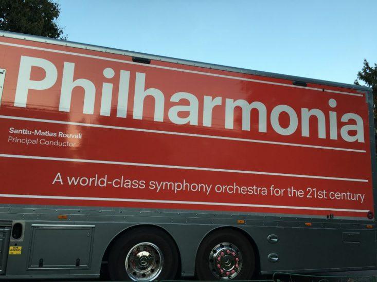 Le camion du Philharmonia