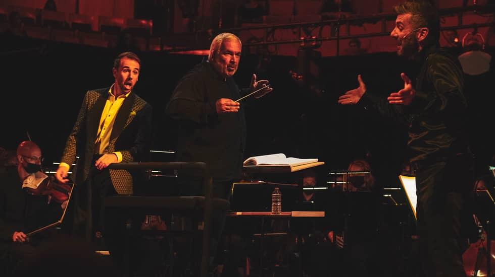 Nico Darmanin (Raimbaut) Marc Minkowski et Nicolas Courjal (Bertram)