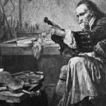 Stradivarius dans son atelier par Jean-Edouard Hamman, XIXe siècle.