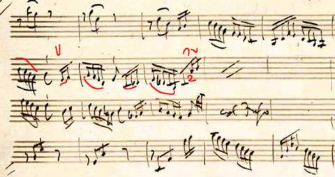 <p>Haydn Manuscript with Violinist Kristopher Tongs' Markings</p>