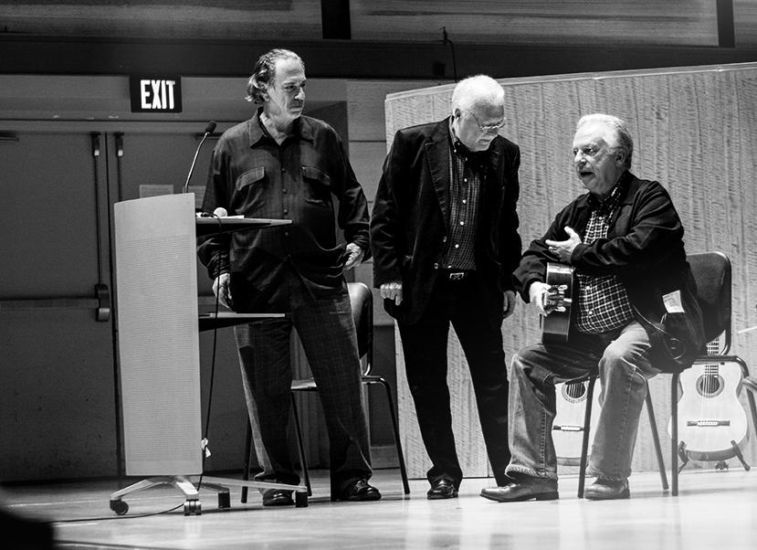 John Harris with Celin and Pepe Romero at Guitarrada VII