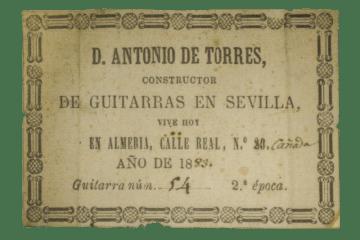 Antonio De Torres guitar label