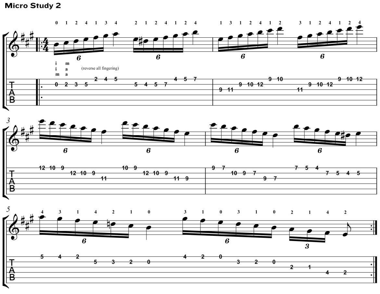 Classical Guitar Method Aguado Micro Study 2