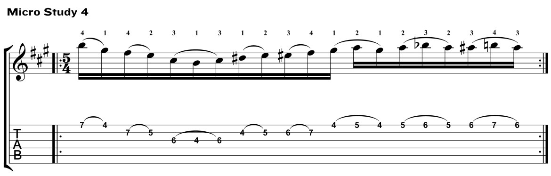 Classical Guitar Method Aguado Micro Study 4
