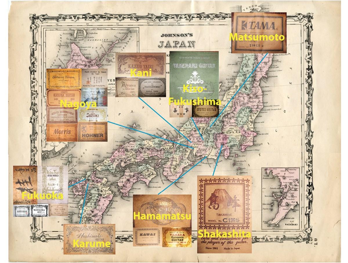 japanese map guitar builders