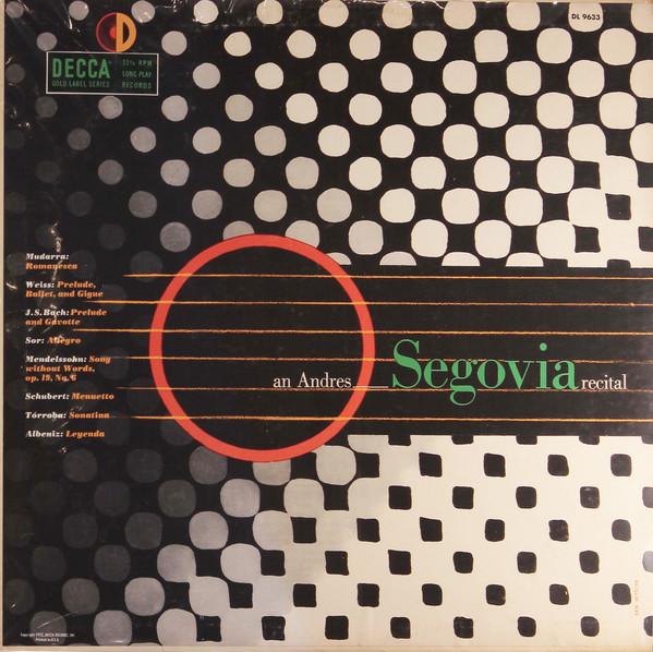 segovia Decca DL 9633