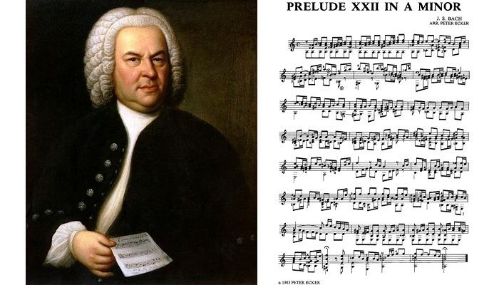 Bach prelude XXII classical guitar music