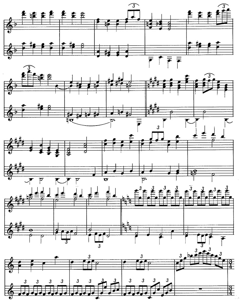 """Claude Debussy """"Reverie"""" Classical Guitar Music page 3/4"""